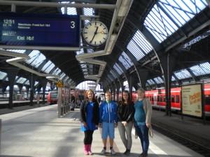 Karlsruhe raudteejaamas kojusõitu alustamas
